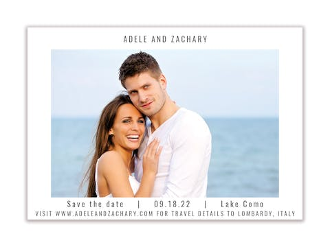 Modern Save the Date-Magnet