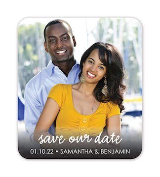 Simple Script Photo Save The Date Magnet