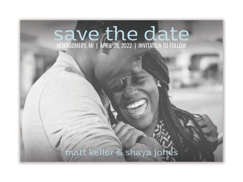 Simply Save The Date Magnet