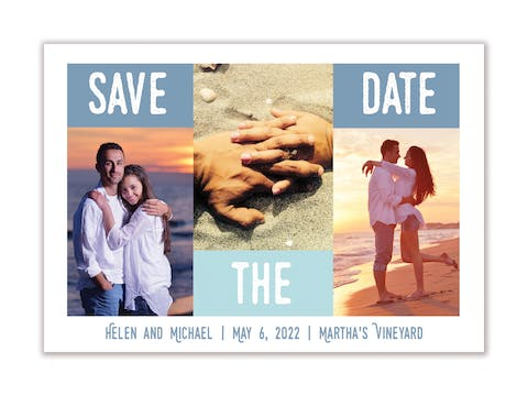 Something Blue Save The Date Magnet