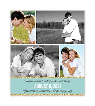 Collage Photo Save The Date Magnet