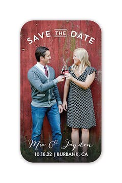Sweet Embrace Photo Save The Date Magnet