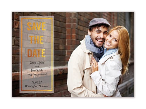 Glowing Save The Date Magnet