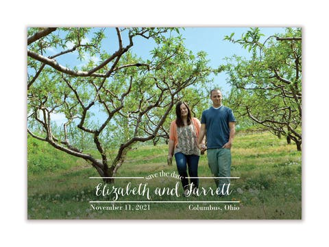 Between the Lines Save The Date Magnet