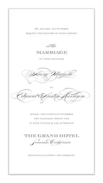 Perfectly Scripted Invitation