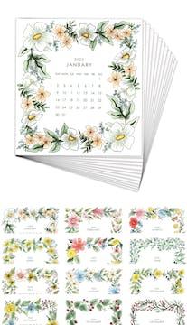 Watercolor Floral 2022 Desk Calendar Refill