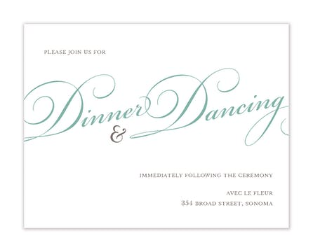 Proudly Announcing Reception Card