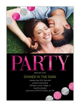 Sparkling Party Banners Photo Invitation