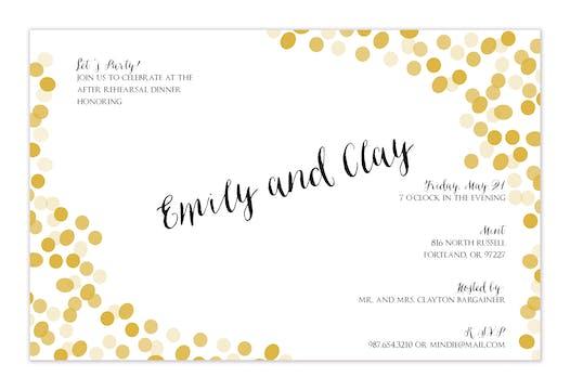 Gold Confetti Invitation