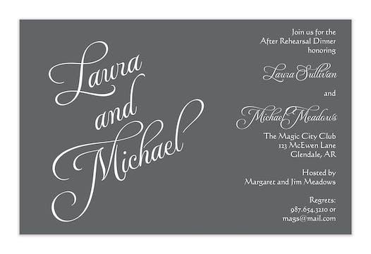 Grey Names Invitation