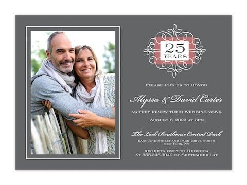 Anniversary Portrait Photo Invitation
