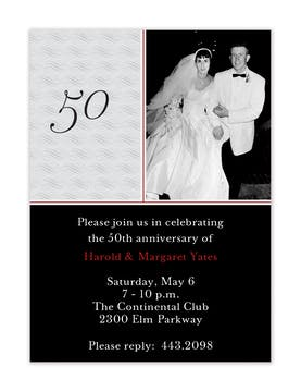 Black & Grey Photo Anniversary Invitation