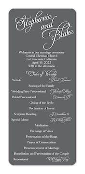 Grey Calligraphic Names Flat Program