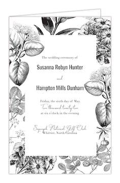 Classic Floral Folded Program