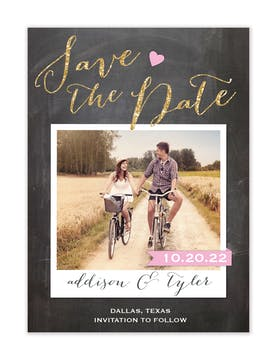 Love Chalkboard Photo Save The Date Magnet
