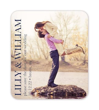 Side Classic Photo Save The Date Magnet