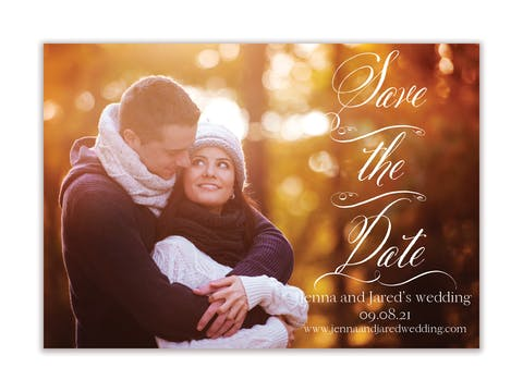 Scrolled Save the Date-Magnet