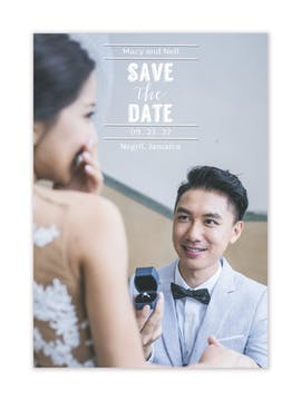 Perfect Save The Date Magnet