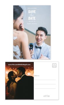 Perfect Save the Date Postcard