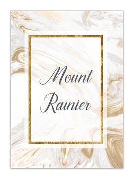 Marbled Elegance Table Card-Flat