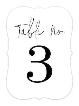 So In Love Table Card