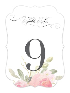 Blooming Bouquet Table Card