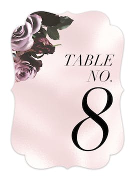 Midnight Floral Table Card