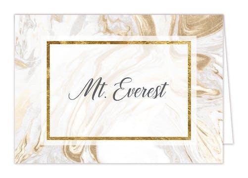 Marbled Elegance Table Card-Folded