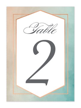 Geometric Ombre Table Card-Flat