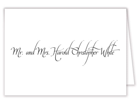 Calligraphy Wedding Placecard