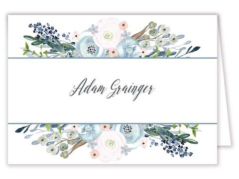 Watercolor Florals Placecard