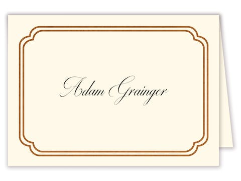 Shining Double Frame Foil-Pressed Placecard