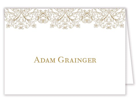Gilded Lace Foil-Pressed Placecard