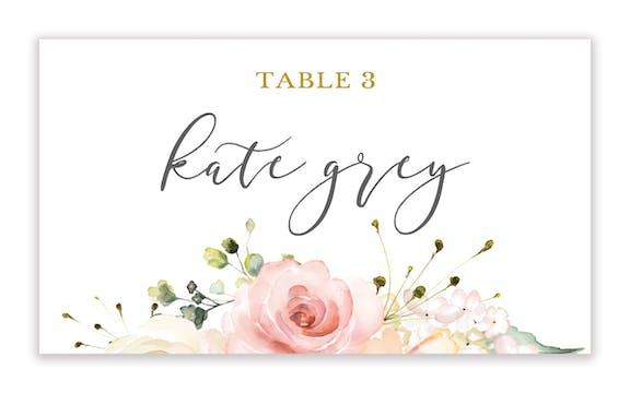 Love Blooms Flat Placecard