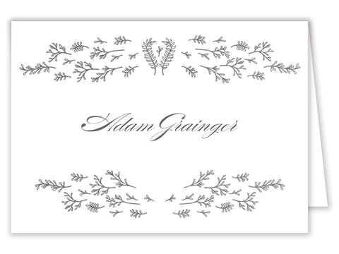 Glistening Florets Foil-Pressed Placecard