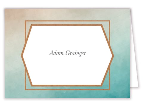 Metallic Ombre Foil-Pressed Placecard