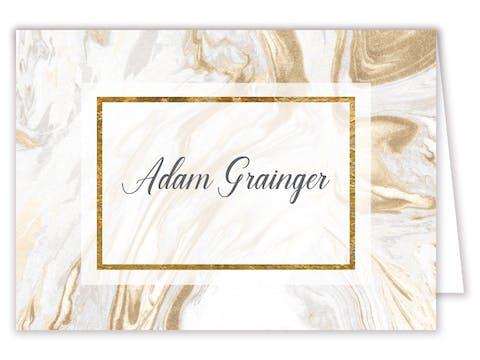 Marbled Elegance Placecard