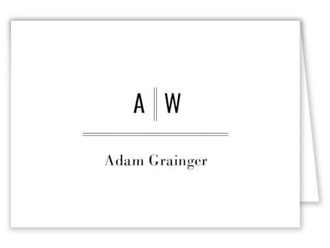 Modern Initials Placecard