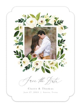 Framed Floral Photo Save the Date