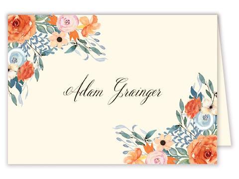 Fresh Floral Placecard