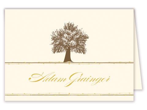 Oak Tree Folded Place Card