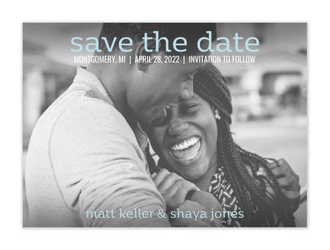 Simply Save The Date Card