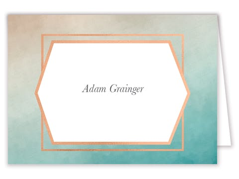 Geometric Ombre Placecard