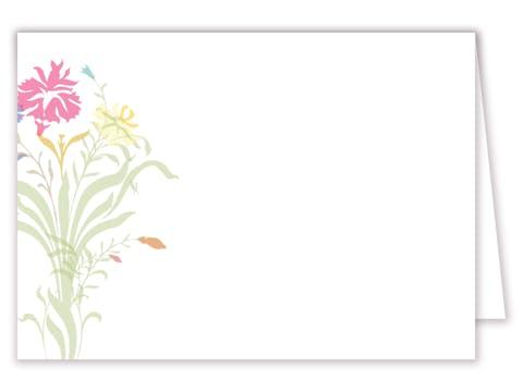 Multi-color Floral Placecard
