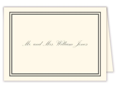 Double line border placecard on IVORY