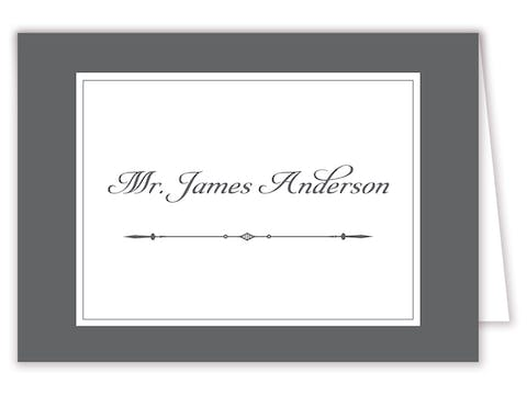 Simply Sophisticated Grey Placecard