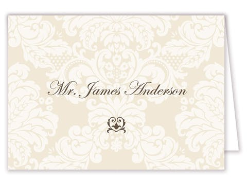Delicate Damask Placecard
