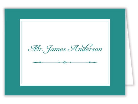 Simply Sophisticated Green Placecard