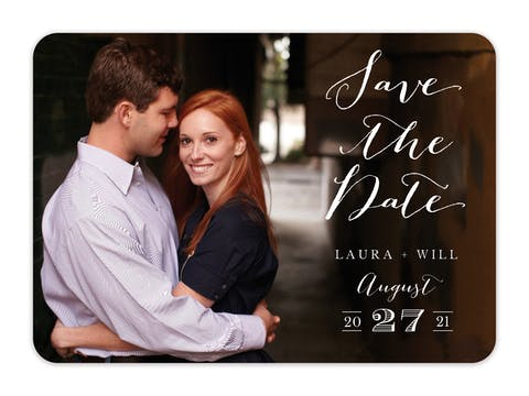 Lettered Love - Solid Back Photo Save The Date