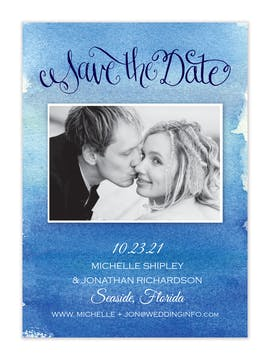 Seaside Photo Save The Date